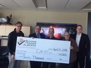 DRIFCan, Presentation of Cheque for BTA Charitable Foundation