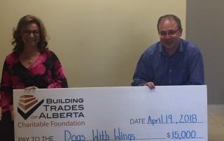 Dpgs with Wings Cheque Presentation