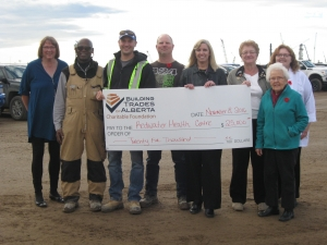 BTA Charitable Foundation $25000 Cheque Presentation to Redwater Health Centre 2016