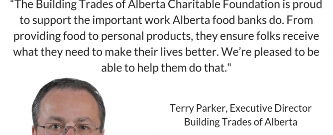 Building Trades of Alberta Charitable Foundation to donate $110,000 to Alberta food banks