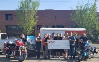 Ride for Dad, BTA Charitable Foundation Cheque Presentation