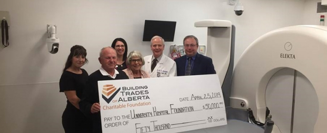 BTA Charitable Foundation donates $50,000 to Alberta Hospital Foundation - Brain Centre Campaign